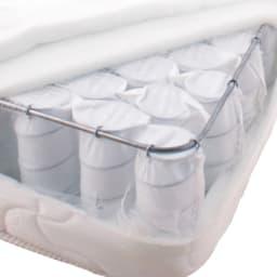 照明付きステージすのこベッド マットレス付き(国産ポケットコイルマットレス付き) ポケットコイルマットレス…一つ一つ独立したポケットコイルが点で体を支えます。