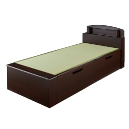 跳ね上げ式深型収納畳ベッド 棚ヘッド付き(高さ84cm) ※写真はシングルロングです。