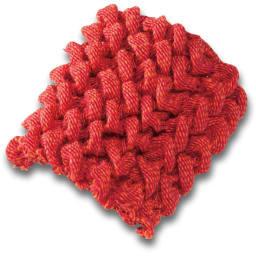 スペイン製フィットカバー[ビスタ] ソファカバーアームなし (キ)オレンジ 〈ビスタ〉 ポコポコとした凹凸感があり、肉厚で高級感のある綿混ストレッチ素材。