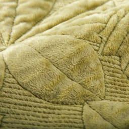 メープルキルト起毛カバーシリーズ マルチカバー (ア)グリーン 温かな風合いの起毛生地全体に、立体感のある凝ったキルトを施した贅沢なカバーシリーズ。