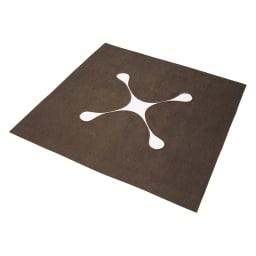 シェニールフラットラグ 掘りごたつラグ(クロス型) (イ)ブラウン