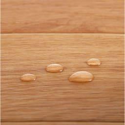 ホットキッチンマット 幅45cm 木目柄 防水素材使用。