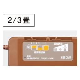 フローリング調プリント防水ホットカーペット(2畳/3畳) ●温度調節機能 ●ダニ対策機能 ●8時間OFFタイマー付 ●暖房面切替機能