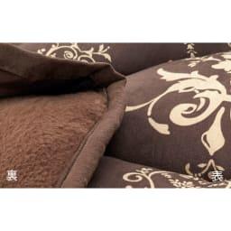 はっ水・消臭・抗菌 ふっくら贅沢ボリューム 省スペースこたつシリーズ こたつ掛け布団 こたつ掛けの裏面は柔らかいフリース素材。