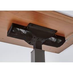 昇降式ダイニングこたつテーブル 120×80cm こたつ内の隅々まですぐに暖まるロングカーボンヒーター。