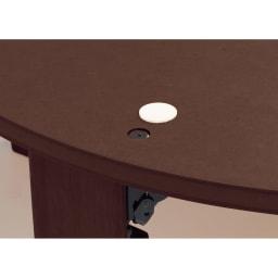 【だ円形】105×75cm ナラ天然木折れ脚まぁるいこたつ オーバル形 天板がずれないようにズレ防止のフェルト付き。