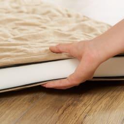 包まれてくつろぐふかふかのごろ寝ソファ ごろ寝ソファ 小 厚さはなんと4cm!
