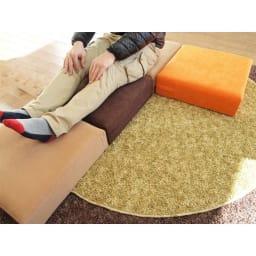 洗濯できるカバーの低反発ふんわりあぐら角クッション 並べてソファのように使っても、
