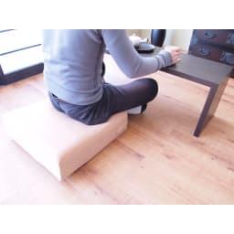 洗濯できるカバーの低反発ふんわりあぐら角クッション 和室の座椅子代わりに。