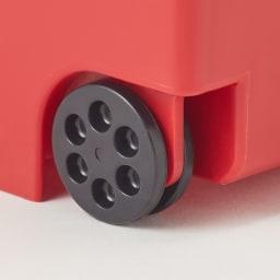 フタスライド式ゴミ箱 2輪キャスター付きで動かしやすい仕様。