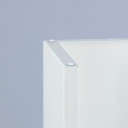 手元が隠せるカウンター上収納 幅75cm 底面にすべり止め付き。