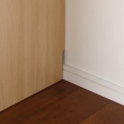 上部オープン棚で取り出しやすい 幅サイズオーダーすき間収納庫 奥行45cm・幅15~45cm 幅木よけカット(1×9cm)で、壁にピタッと設置可能。