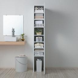 組立不要 出し入れしやすい(自由に使える)光沢仕上げ快適収納庫 幅30奥行35cm 洗面所のタオル収納や衣類収納に。