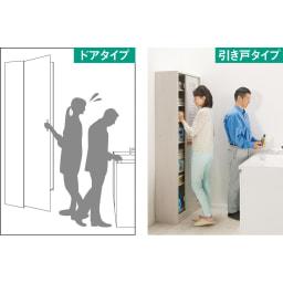 引き戸ルーバー洗面所収納庫 幅90cm (ア)ホワイト 開閉に場所を取るドアは人の動きが制限されがち。引き戸は場所を取らず、薄型なので狭い場所にもぴったり。