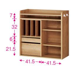 隠せる片引き戸ランドセルラック 幅90cm ※赤文字は内寸(単位:cm) ※扉を外した状態