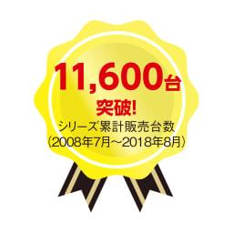 すっきり、ぴったりが心地よい伸縮式テレビ台スイングローボード 扉付き幅123~234cm シリーズ累計販売台数11,600台突破!(2008年7月~2018年8月)