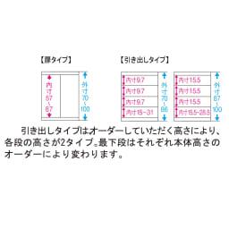 【日本製】壁面や窓下にぴったり収まる高さオーダー対応収納庫 扉幅オーダー25~45(左開)奥行25cm 1cm単位でオーダーOK! 高さ70~100cmの範囲で、高さ1cm単位でオーダー承ります。