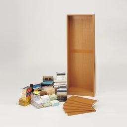 本好きの為のデスクシリーズ シェルフ 幅75cm 固定棚(2枚)の位置を決められ、さまざまな本に対応。