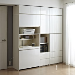 【パモウナ社製】毎日の使いやすさを考えた収納システム 扉 幅60cm (ア)ホワイト ≪組合せ例≫