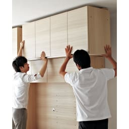 【パモウナ社製】毎日の使いやすさを考えた収納システム 扉 幅60cm 商品の開梱から組立・設置いたします! ご注文時に有料にてお申し込みいただければ、お届け先のご指定の場所で本体と上置きの連結や天井の突っ張りなどの設置をいたします。