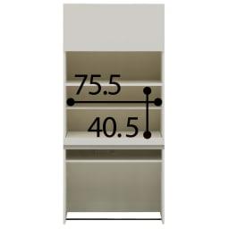 【パモウナ社製】毎日の使いやすさを考えた収納システム 収納棚付きパソコンデスク(机)幅80cm (ア)ホワイト ※お届けする商品です。