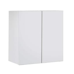 高さサイズオーダー上置き幅60奥行31 工夫満載!壁面書棚(本棚)リフォームユニット 上置き奥行31cm 幅60cm高さ26~90cm (イ)前面:ホワイト・本体:ホワイト