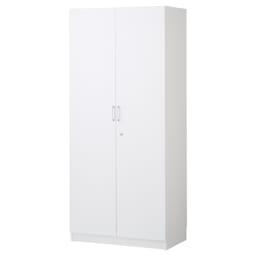鍵付き本棚ハイタイプ 幅80奥行45高さ180cm 商品イメージ:(ア)ホワイト