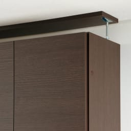 【幅80cm】 突っ張り壁面収納本棚 (奥行45cm本体高さ230cm) 面で突っ張ってしっかり安定させる安心構造。