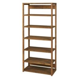 国産檜オープンラック 幅80高さ179cm (イ)ダークブラウン 棚板は6cm刻みで高さ調節が可能。 ※内寸(単位:cm)