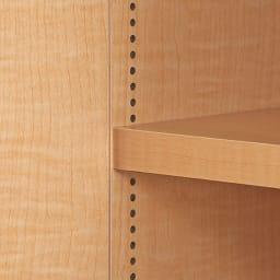 日用品もしまえる頑丈段違い書棚(本棚) 幅80cm 高さ180cm 棚板は1cmピッチの可動式。