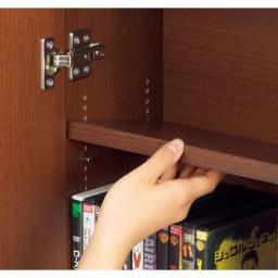 1cmピッチ薄型窓下収納庫 【幅115奥行17.5cm】 棚板は1cmピッチで可動。ムダなく収納できます。棚板は奥行14.2で、文庫本やDVDなどが収納できます。