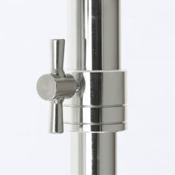 プロ仕様 上下2段頑丈ハンガーラック 幅57cm 中間リングは変形に強いスチール製です。