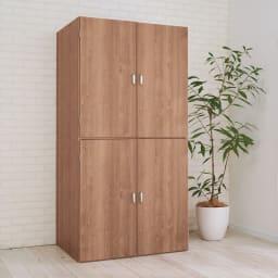 手軽に押し入れが作れる布団タンス 幅90cm 洋室にもなじむスッキリしたデザインです。