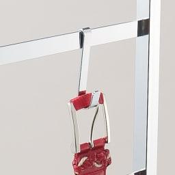 CINDERELLA(シンデレラ)ハンガーラック 棚1段・幅100cm 小物が掛けられるフック3個付き。