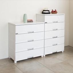 Fits フィッツプラスプレミアム 幅65cm・5段 (ア)セラミックホワイト 商品イメージ