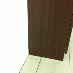 美しく飾れるシューズクローゼット 下駄箱扉タイプ 幅80 高さ91cm 本体は幅木カット付き(幅1.5×高さ7.5cm)なので壁にぴったり付けられます。