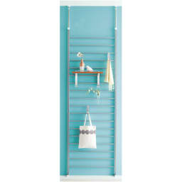 突っ張りブティックハンガー 幅95cm (イ)棚板ナチュラル色見本 写真は幅65cmタイプです。