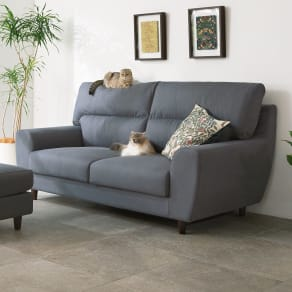ペットの引っ掻きに強いソファ 3人掛け 幅190cm 写真