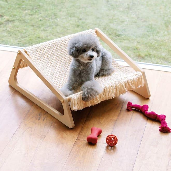 ペット用ハンモックベッド ネットタイプ ペット用のハンモック風ベッドです。
