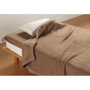 お得な掛け敷きセット クイーン(洗えるブラウンカシミヤ100%毛布) 写真