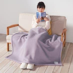シルクのような光沢となめらかさ プレミアムベビーアルパカ毛布 ハーフケット 写真