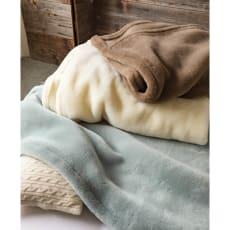 ムートンと錯覚するほどなめらか肌ざわり ジロンウール ニューマイヤー毛布