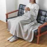 発熱するコットン「デオモイス」寝具シリーズ フランネルニットの2枚合わせ毛布 ハーフケット 写真