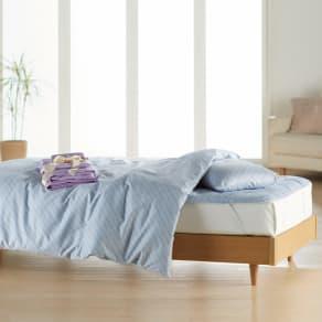 ベッド用シングル6点(お得な完璧セット(布団+カバー)) 写真