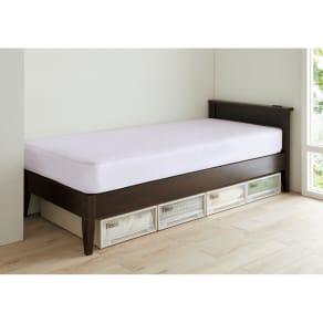 【幅97cm長さ205(マット195)cm】24サイズバリエーションヘッドボード付きベッド(国産ベッドボンネルマットレス付き) 写真
