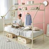 一台で何役もこなす!多機能ぐうたらベッド シングル2段・高さ181cm ポケットコイルマットレス付き 写真