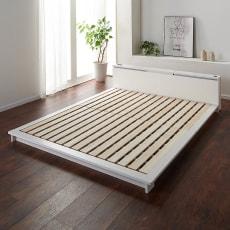 照明付きステージすのこベッド フレームのみ