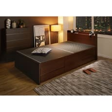 美草畳収納付きベッド 棚あり