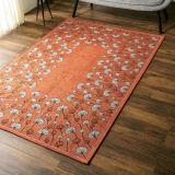 約200×250cm(イタリア製ジャカード織りラグ〈カリーナ〉) 写真