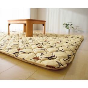 長方形(京都西川 はっ水 ふっくらこたつシリーズ こたつ敷き(厚さ約4cm)) 写真